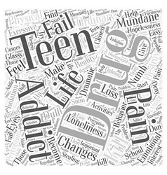 Teen drug addiction word cloud concept vector