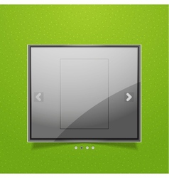 Glossy screen ad vector