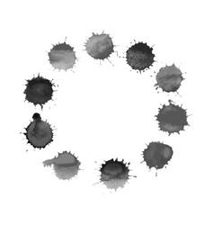 black circle frame with spla vector image