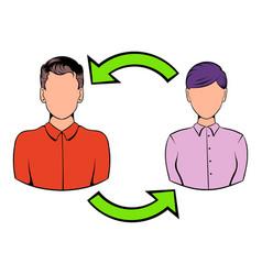 staff turnover concept icon cartoon vector image