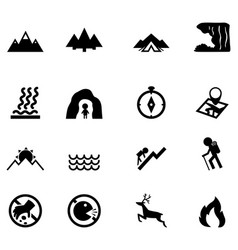 Forest camping icon vector