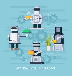 Artificial intelligence robot concept vector