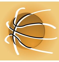 Stylized basketball vector image