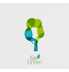 Eco tree abstract shape design vector