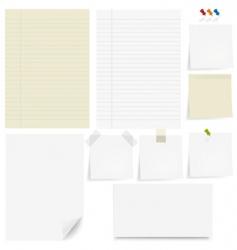 Paper set vector