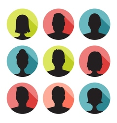 set of colorful user profile vector image