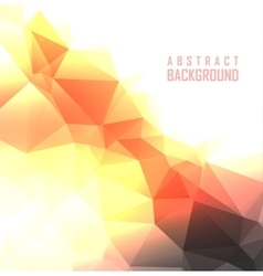 Polygonal design abstract vector