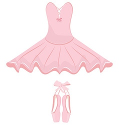 Ballet dress and pointes vector image