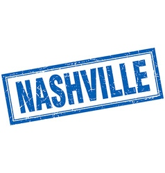 Nashville blue square grunge stamp on white vector