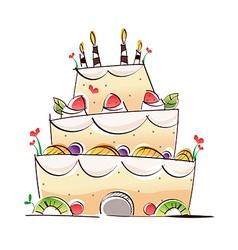 A wedding cake vector image vector image