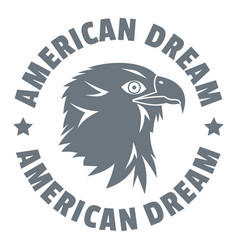 American dream eagle logo simple style vector