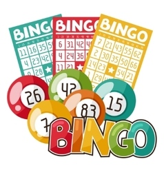 Bingo or lottery game with balls and vector