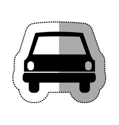 Black car front icon vector