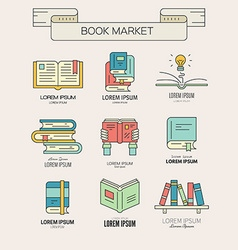 Book Collection vector image vector image