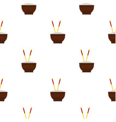 Brown bowl pattern seamless vector