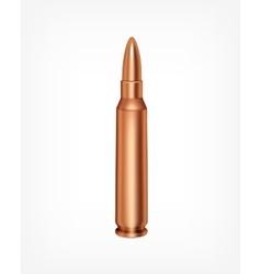 Bullet on gray vector