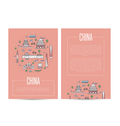 China country traveling advertising template vector