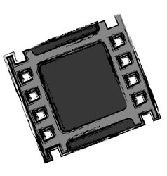 Cinema tape icon vector