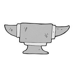 Comic cartoon blacksmith anvil vector