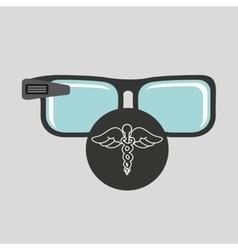 Digital glasses wifi medical symbol vector