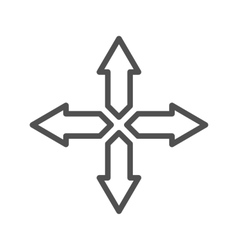 Directions line icon vector