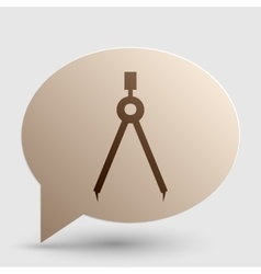 Divider simple sign brown gradient icon on bubble vector