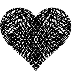 Doodle heart shaped 1 vector