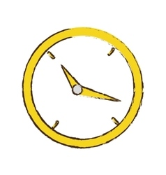 Drawing clock time business money design vector