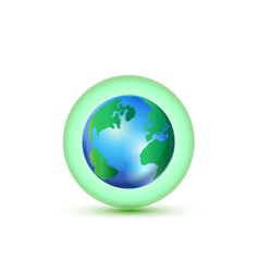 Green world connection logo vector