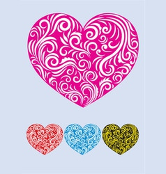 Heart love decor vector
