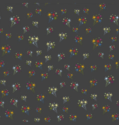 Holiday fireworks seamless pattern abstract design vector