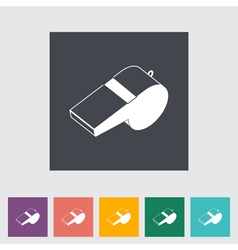icon sports whistle vector image