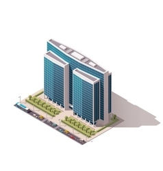 isometric building vector image