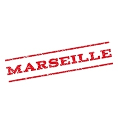 Marseille Watermark Stamp vector image vector image
