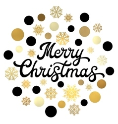 Merry christmas black hand lettering inscription vector