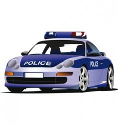 police car vector image vector image