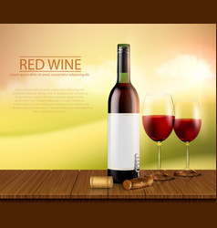 realistic poster with glass vector image vector image