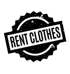 Rent clothes rubber stamp vector