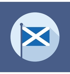 Scotland flag flat icon vector