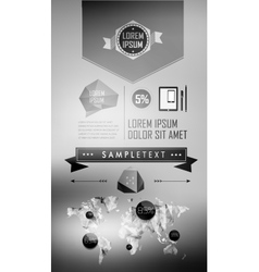Set elements of infographics vector image