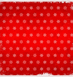 Snowflake pattern on aged card vector image vector image