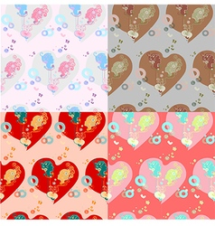 st Valentines day seamless pattern vector image
