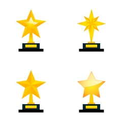 Star awards vector image vector image