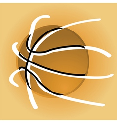 Stylized basketball vector