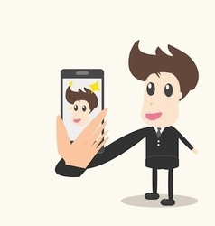 Taking a photo with mobile phone vector