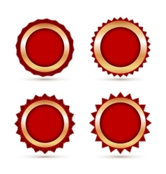 Vintage red labels template set vector