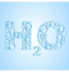 water drops H2O shaped - background vector image vector image