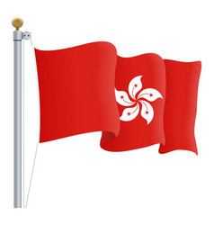 waving hong kong flag isolated on a white vector image vector image
