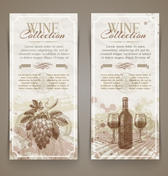Wine and winemaking vintage banners vector