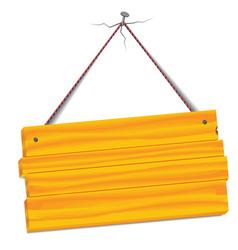 Wooden bulletin board vector